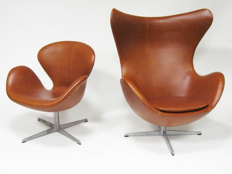 Arne jacobsen swan sessel the swan easy chair leather for Sessel jacobsen