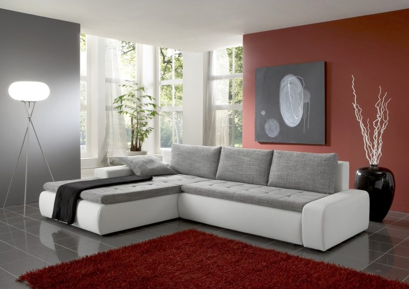 ecksofa ideen ein hei er trend f r ein wohnzimmer deko feiern zenideen. Black Bedroom Furniture Sets. Home Design Ideas
