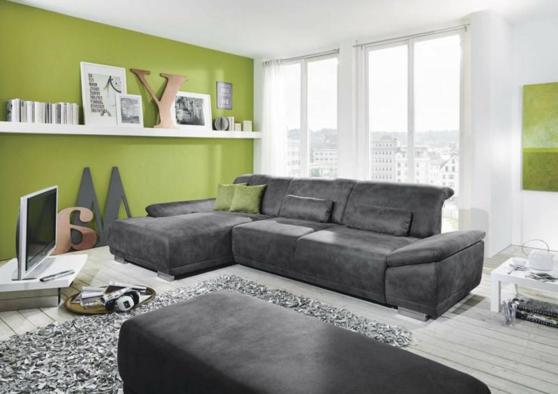 Ecksofa Ideen  ein heißer Trend für ein Wohnzimmer  Deko  -> Ecksofa Trends