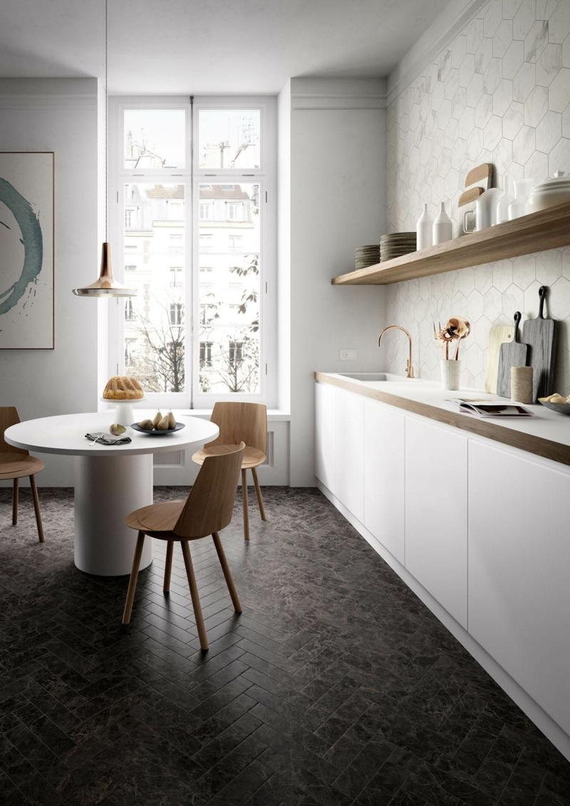 fliesen k che abrieb elegante interior. Black Bedroom Furniture Sets. Home Design Ideas