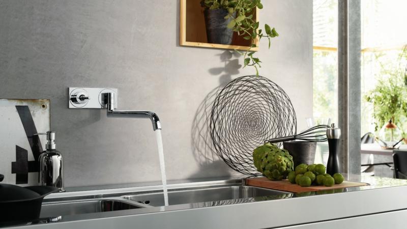 Küchenarmaturen komplexe Form