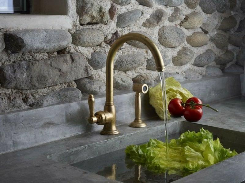 horizontale Achse Küchenarmaturen