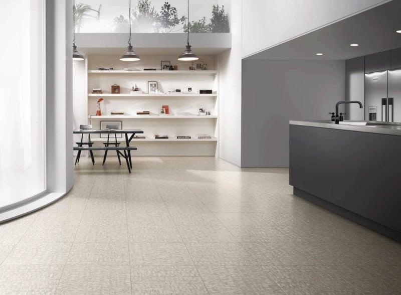 linoleumboden in grau industrielampen