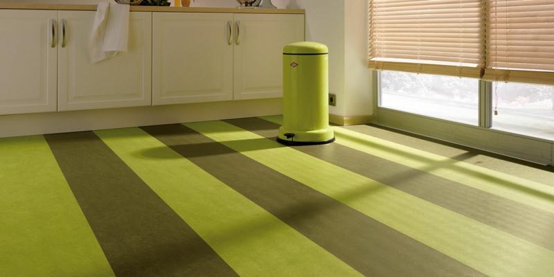 linoleumboden braun grün