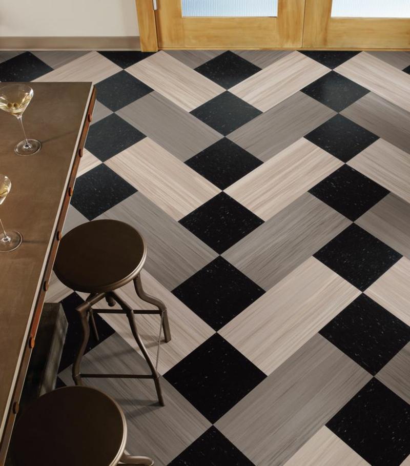 linoleumboden grau pattern