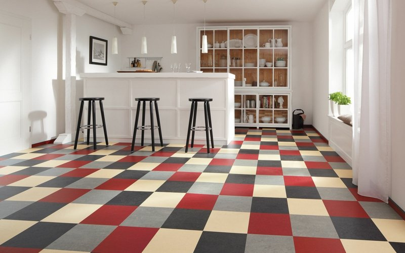 linoleumboden küchenbereich