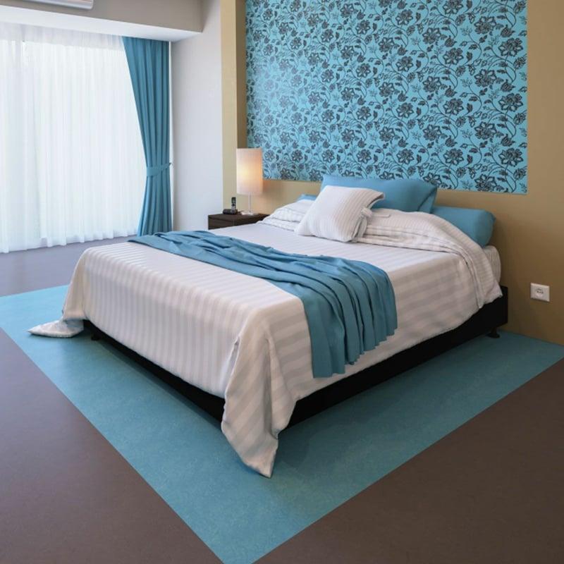 linoleumboden Naturmaterial schlafzimmer