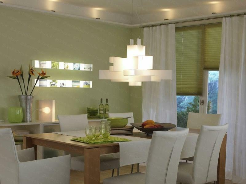 feng shui empfehlt grüne wände im esszimmer