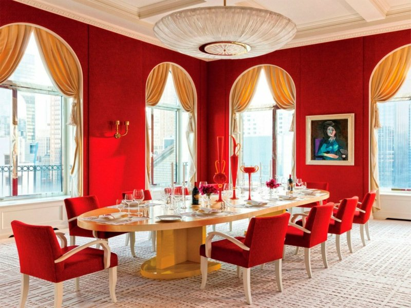Awesome Esszimmer In Rot Ideen Tipps Photos Home Design Ideas ...