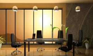 Raumgestaltung Ideen und goldene Farben im Office