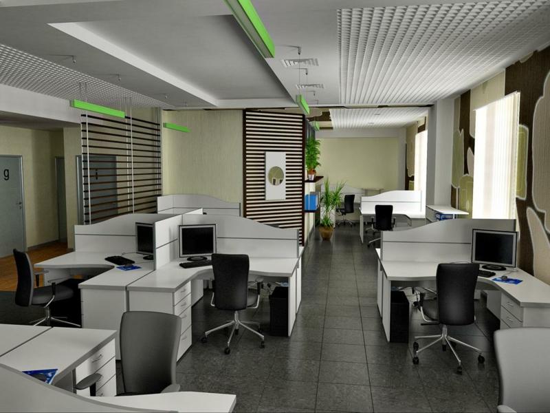 Raumgestaltung Ideen mit weißen Stühlen im Office