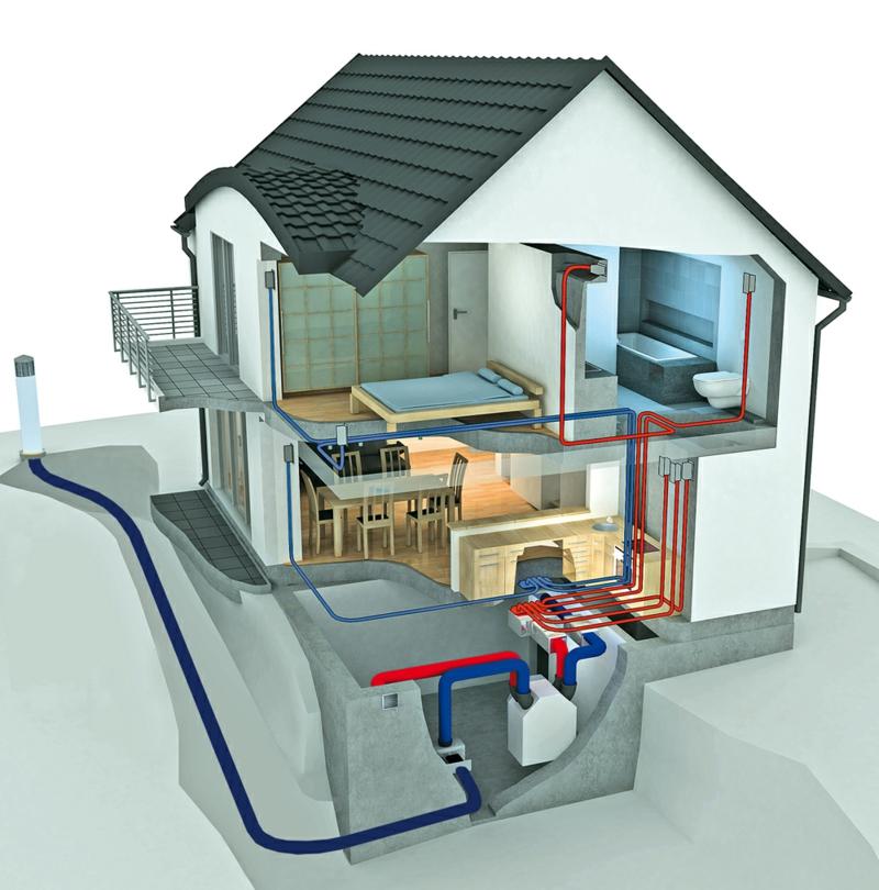 Model eines Energiesparhauses