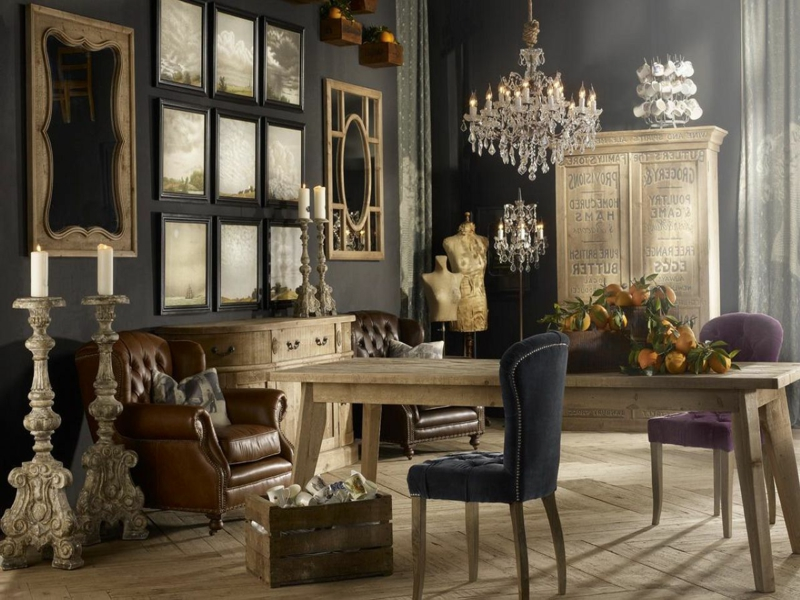 wohnungseinrichtungen im vintage stil innendesign m bel zenideen. Black Bedroom Furniture Sets. Home Design Ideas