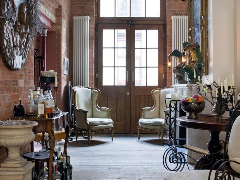 wohnzimmer und vintage stil