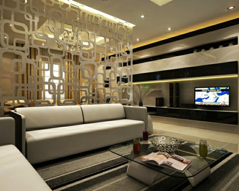 Zonenaufteilung im Wohnzimmer