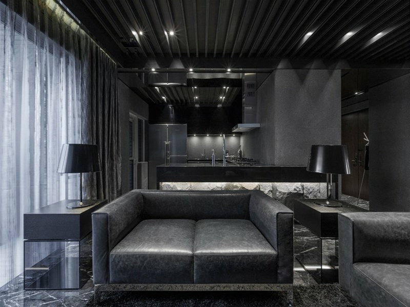 moderne schwarze farbgestaltung