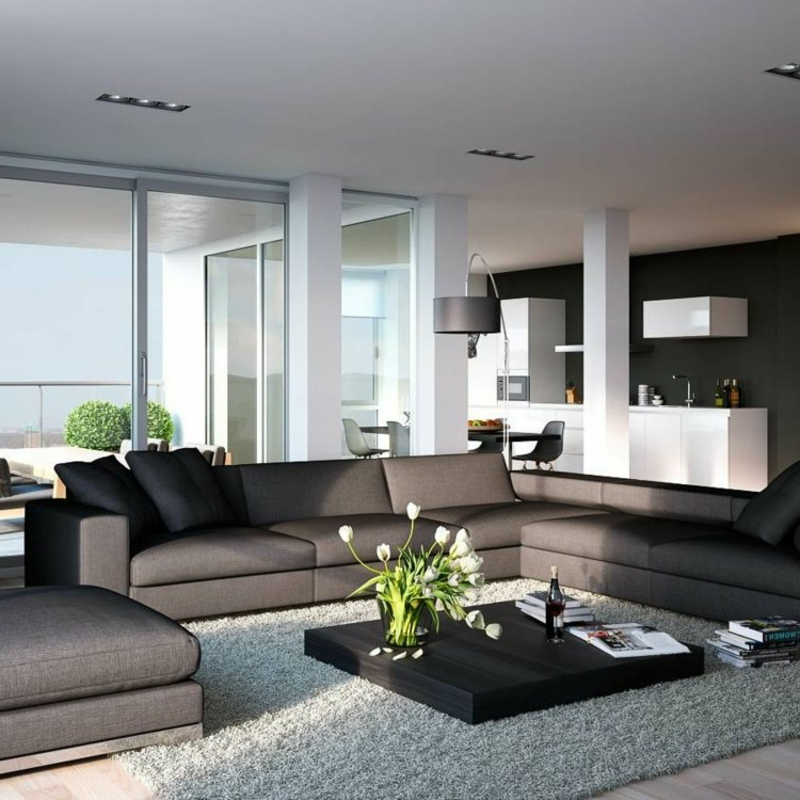 wohnzimmer ideen dunkel. Black Bedroom Furniture Sets. Home Design Ideas