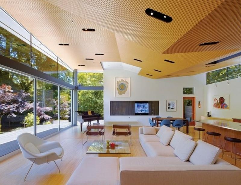 interessante Decke Wohnzimmerdesign
