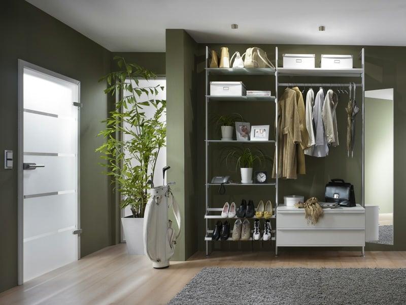 50 ideen f r praktische ankleidezimmer garderoben flurm bel zenideen. Black Bedroom Furniture Sets. Home Design Ideas