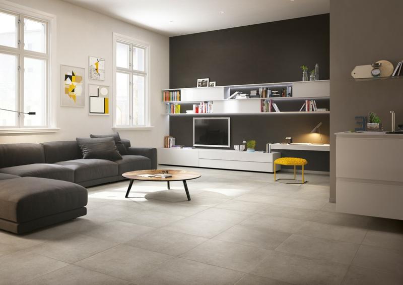 betonfliesen im privaten Wohnbereich