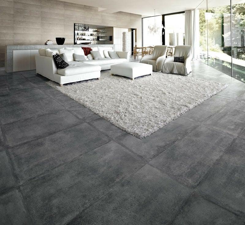 betonfliesen wohnzimmer