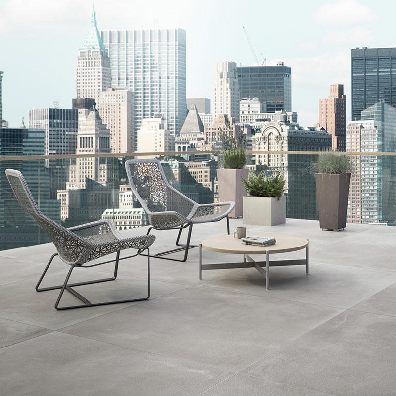 betonfliesen traumhafte terrasse