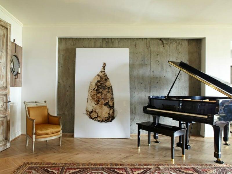 musik und bild im wohnzimmer