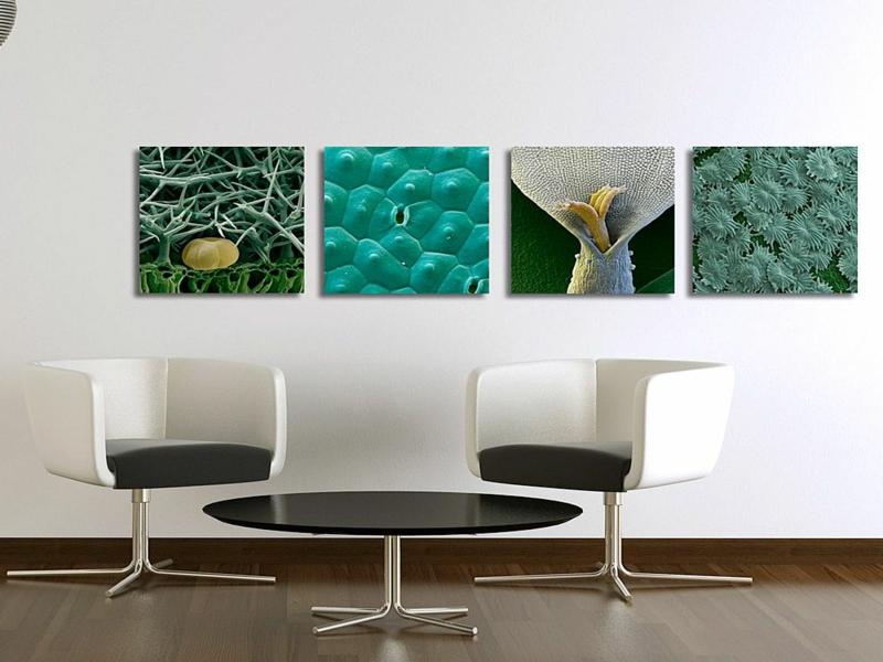 einige grüne bilder zum aufhängen