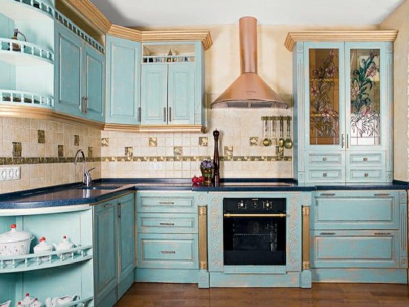 wohnideen für goldene farben in der provence küche