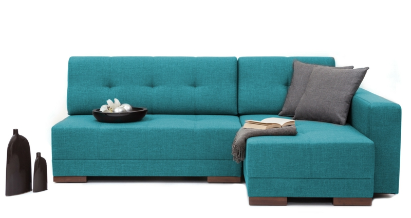 massives sofa in Blau