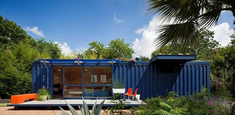 containerhaus ein praktisches eigenheim ferienhaus hotel design zenideen. Black Bedroom Furniture Sets. Home Design Ideas