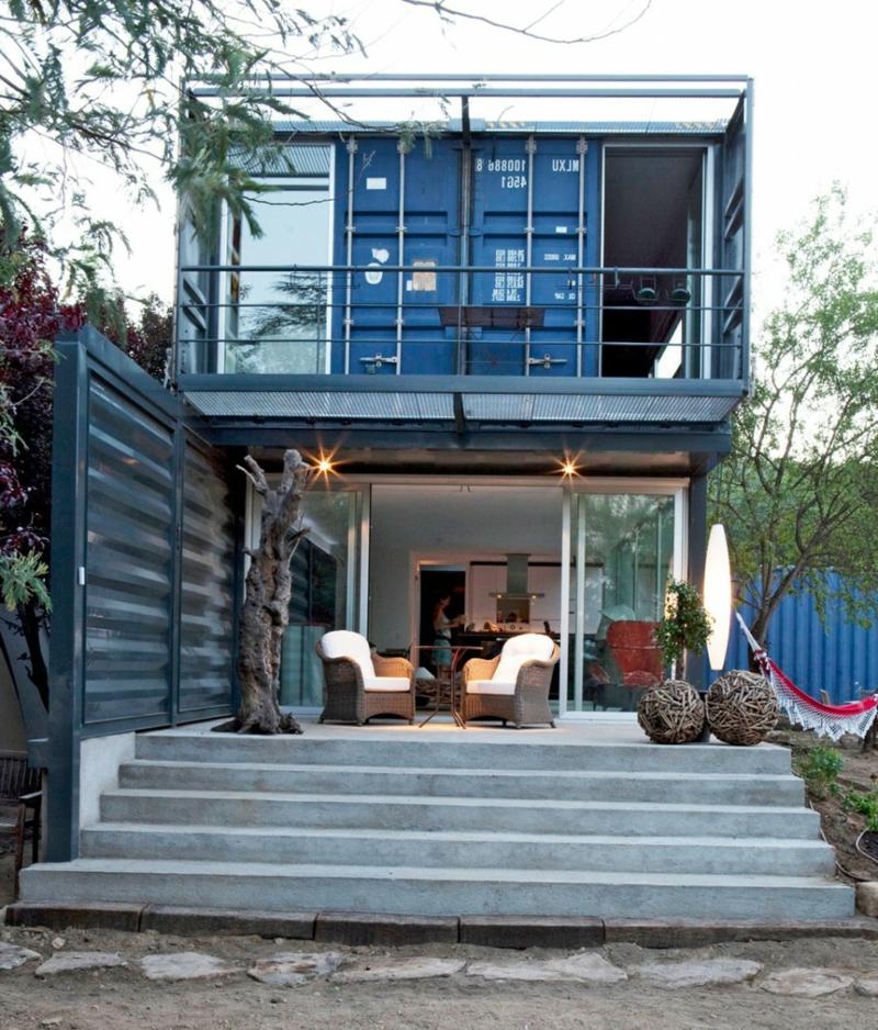containerhaus in El Tiemblo veranda
