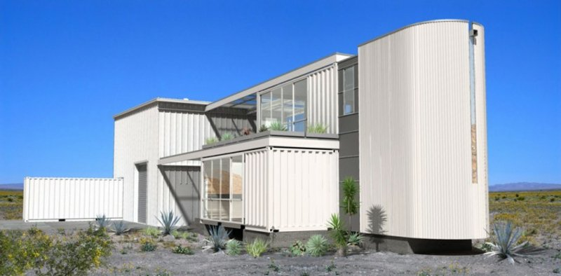 containerhaus in Mojave Desert by Ecotech Design View