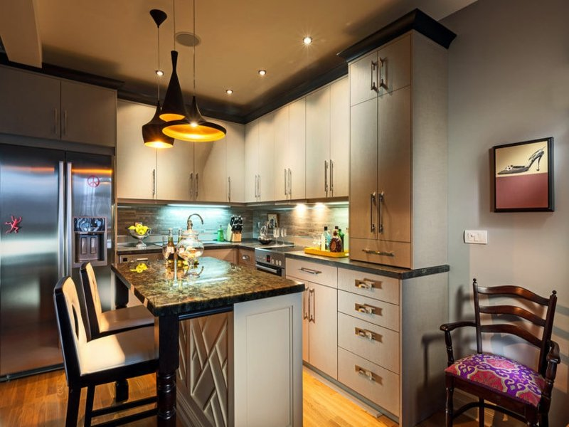 direktes licht in der küche