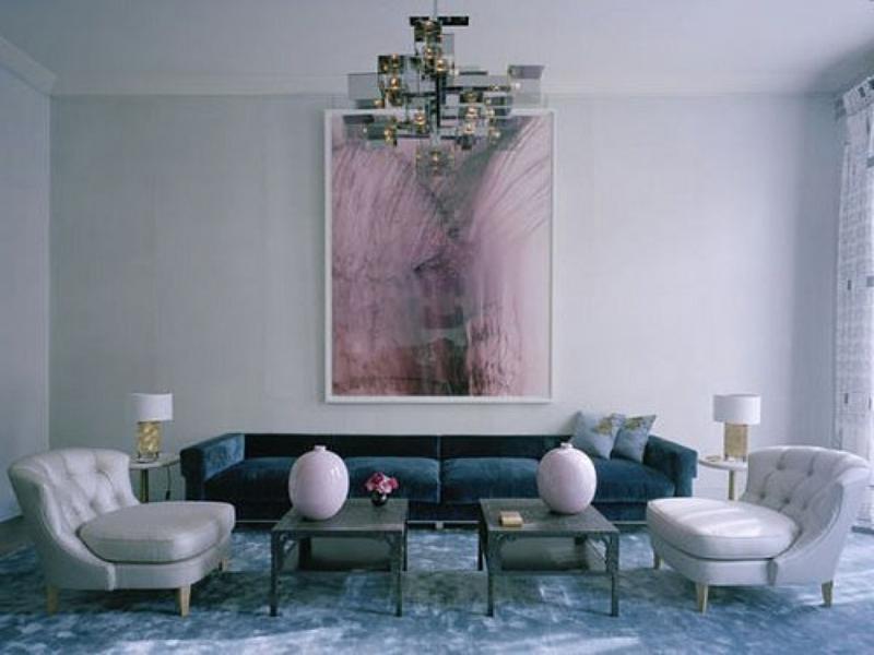 Bildakzent mit wasserfarben im wohnzimmer