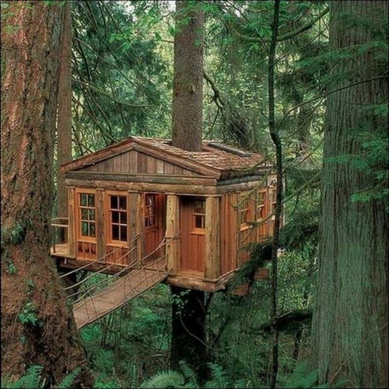 Baumhaus aus Holz moderne Gartenhäuser