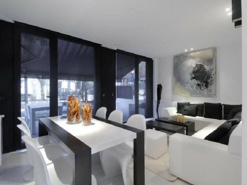 moderner ess- und wohnzimmer in eins