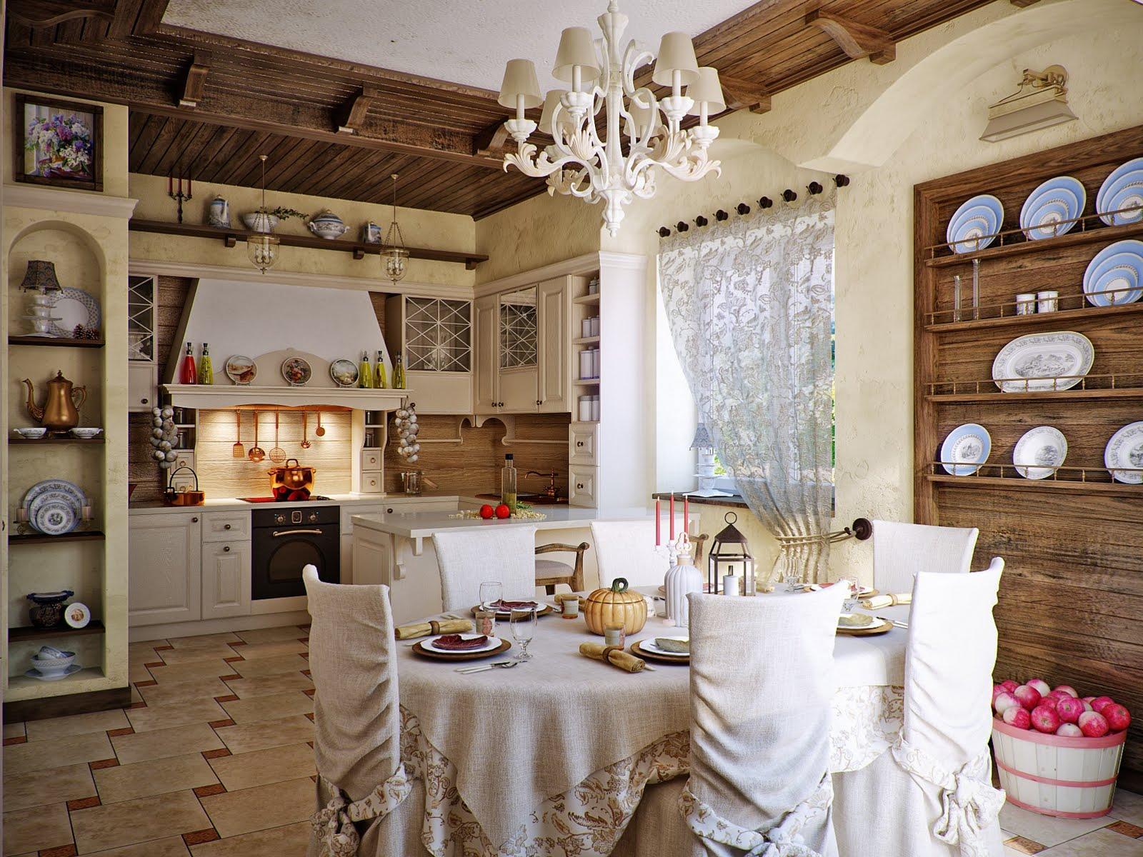 wohnideen aus frankreich für die küche