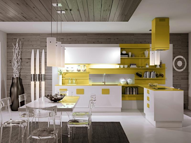 küche mit gelben akzenten