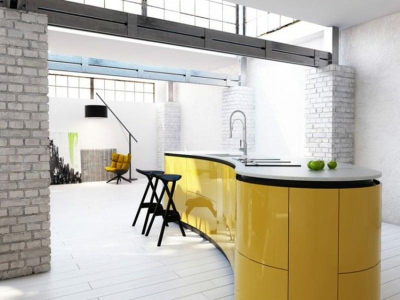 dekorieren sie die kücheninsel mit gelb