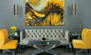 einrichtungsbeispiele für kunst im wohnzimmer
