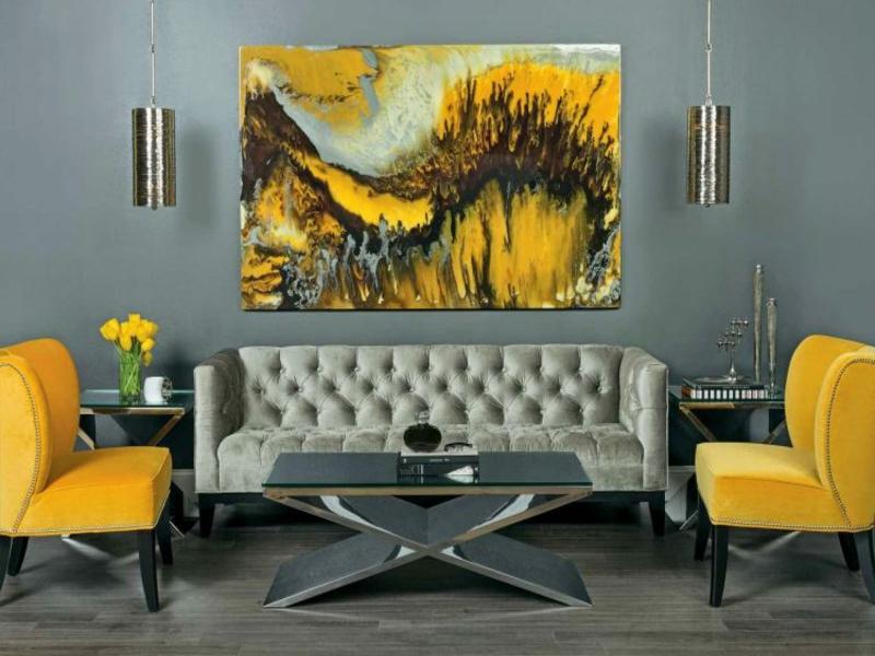 Einrichtungsbeispiele in gelb for Einrichtungsbeispiele wohnzimmer