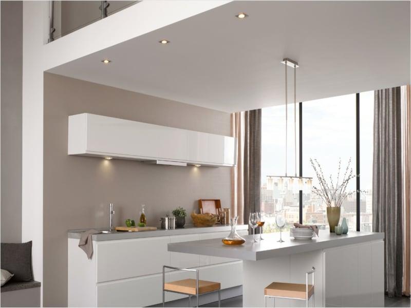 Natürliche und künstliche Küchenbeleuchtung