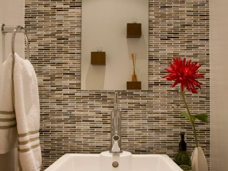 glasmosaik mosaiksteine im bad