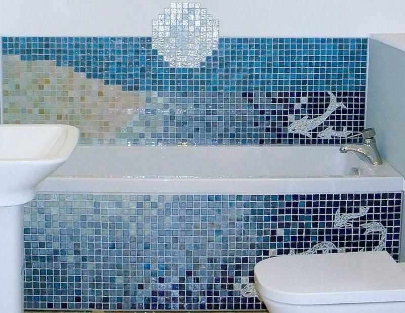 glasmosaik Mosaikfliesen im bad