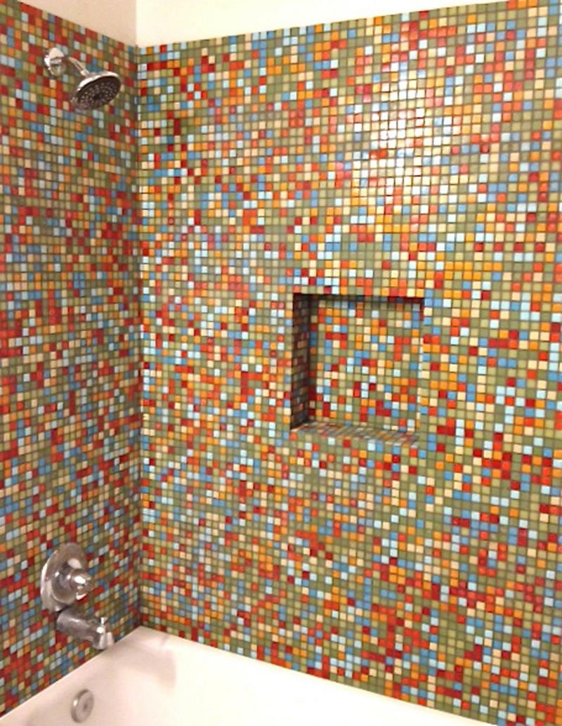 bunte Mosaikfliesen Glasmosaik