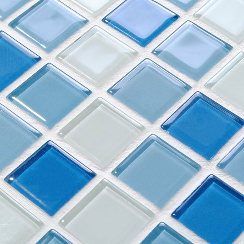 glasmosaik element im blau