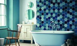 glasmosaik im badezimmerinterior