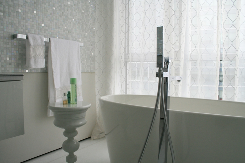 glasmosaik kühle Akzente
