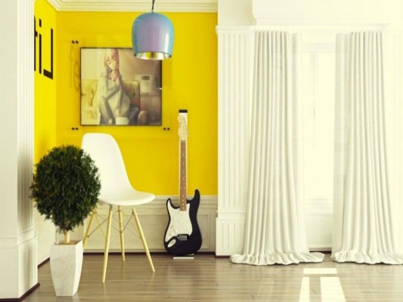 gelbe wang - dekoration